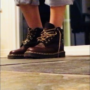 Dr. Martens brown classic boots
